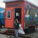 Terry McGlynn and Nikee Borden with Tiny House #9