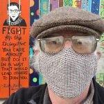 Alex Madonik - selfie with RBG fence panel by Camp Kee Tov