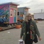 YSA Executive Director Sally Hindman with a bucket of paint